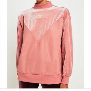 Adidas pink velvet sweatshirt